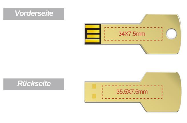 Goldener-USB-Stick-in-Schl-sselform